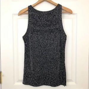 Ann Taylor LOFT Charcoal Gray Black Knit Tank